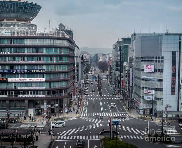Urban Avenue, Kyoto Japan Art Print
