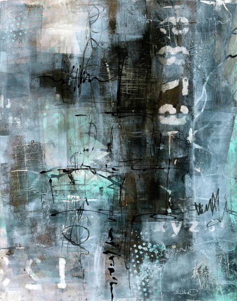 Painting - Blue Graffiti  by Patricia Lintner