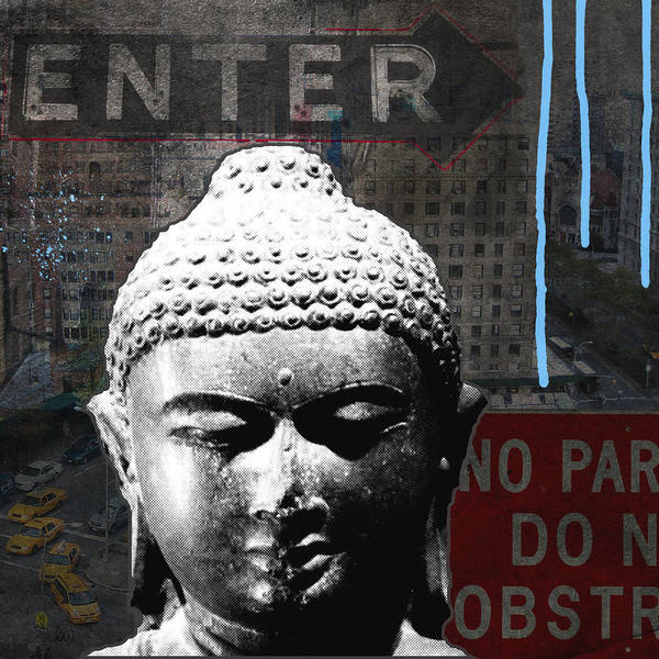 News Mixed Media - Urban Buddha 4- Art By Linda Woods by Linda Woods