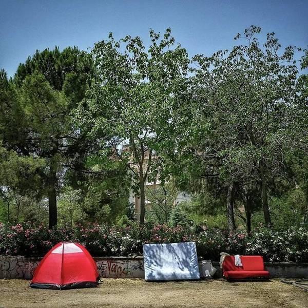 Wall Art - Photograph - Urban Camping #city #garden #park by Rafa Rivas