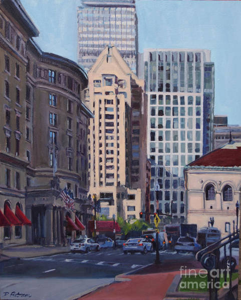 Painting - Urban Canyon - Saint James Street, Boston by Deb Putnam