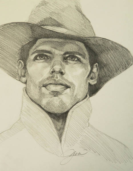 Drawing - Urban Cowboy by Jani Freimann