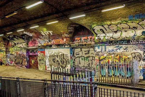 Ink Sketch Photograph - Urban Grafitti by Martin Newman