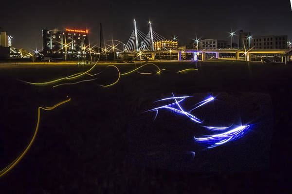Photograph - Urban Light Painting  by Sven Brogren