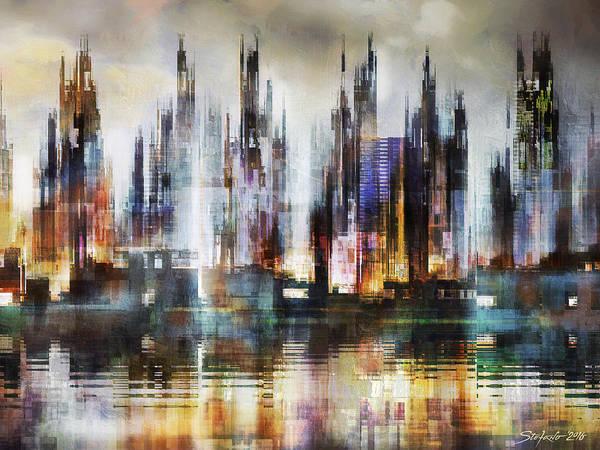 Painting - Urban Morning IIi by Stefano Popovski