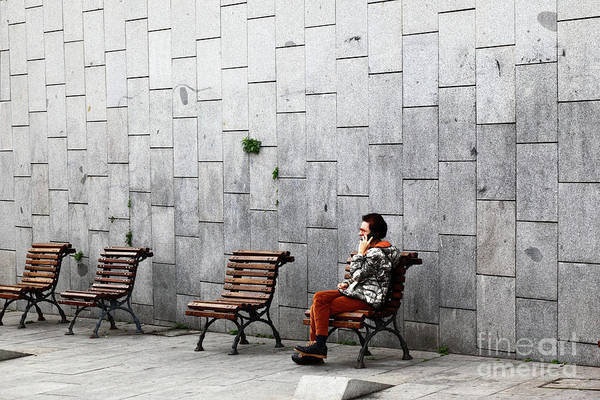 Photograph - Urban Phone Conversation by James Brunker