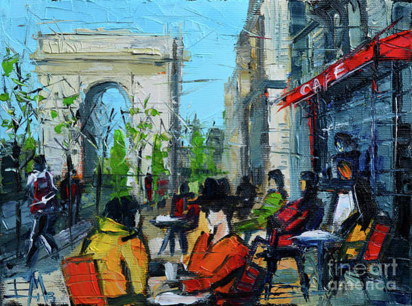 Urban Life Painting - Urban Story - Champs Elysees by Mona Edulesco