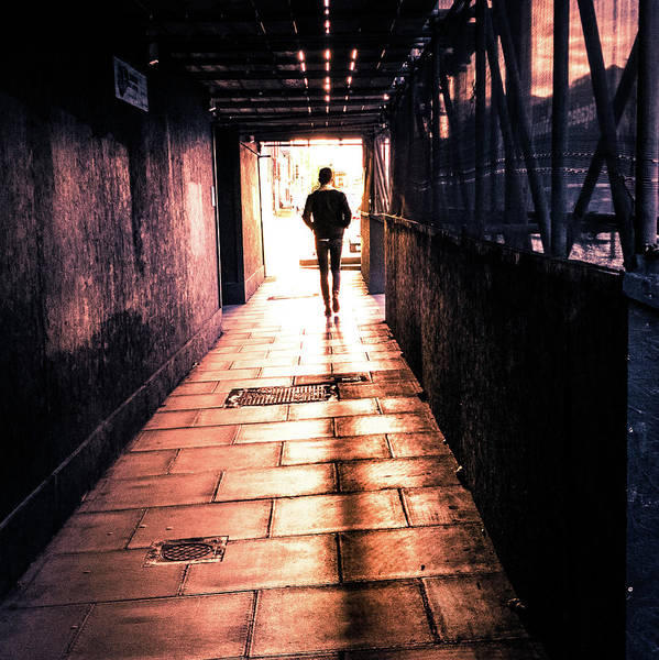 Faceless Photograph - Urban Sunset - Dublin, Ireland - Color Street Photography by Giuseppe Milo