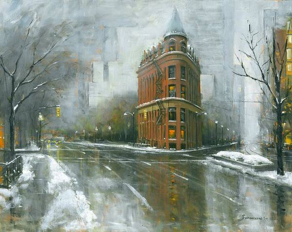 Wall Art - Painting - Urban Winter by Michael Swanson