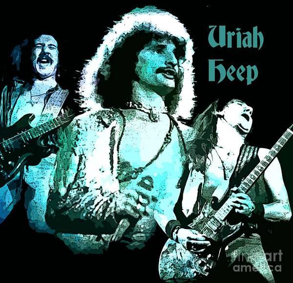 Wall Art - Photograph - Uriah Heep Mick Box Poster by John Malone