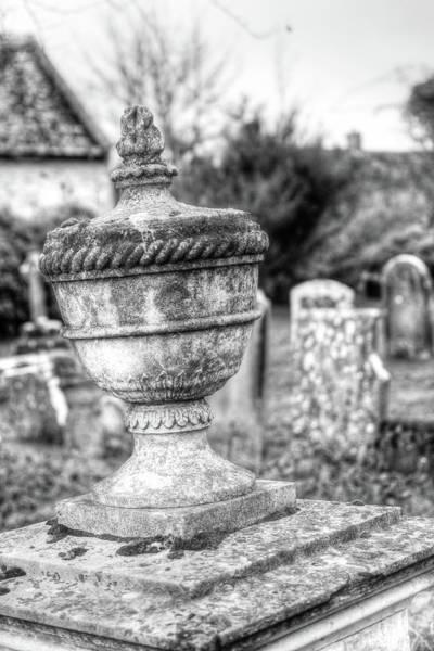 Photograph - Urn Vase In Old Cemetery Hdr by Jacek Wojnarowski