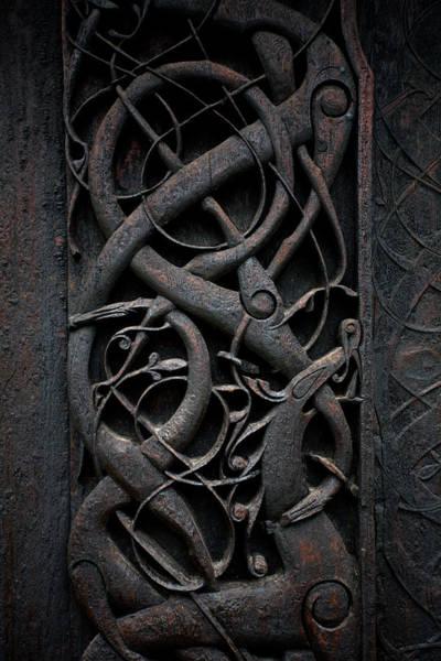 Photograph - Urnes Stave Church Details  by Aivar Mikko