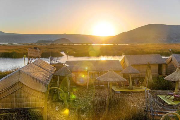 Puno Photograph - Uros Floating Islands Sunset by Jess Kraft