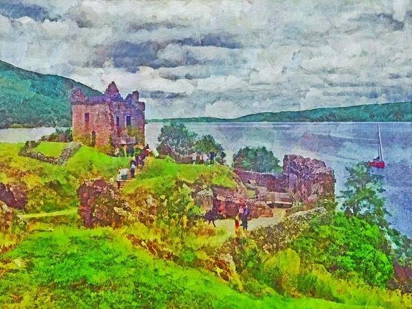 Digital Art - Urqhart Castle In Scotland by Digital Photographic Arts