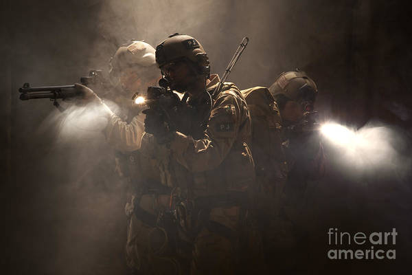 Navy Seal Photograph - U.s. Air Force Csar Parajumpers by Tom Weber