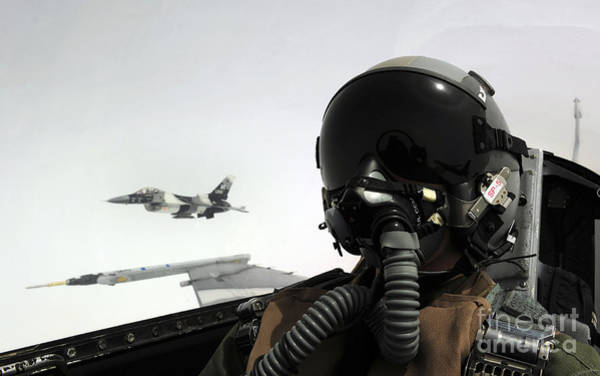 F-16 Photograph - U.s. Air Force Pilot Takes by Stocktrek Images
