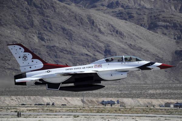 National Guard Photograph - U.s. Air Force Thunderbird F-16 by Stocktrek Images