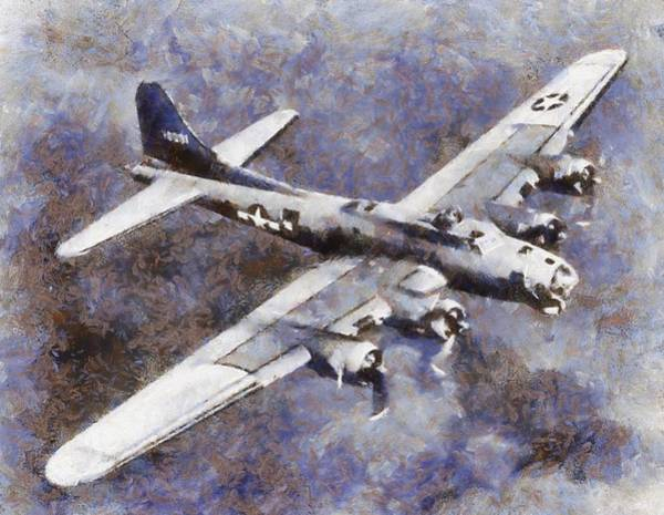 Bomber Painting - Us Airforce B-17 Bomber Wwii by Esoterica Art Agency