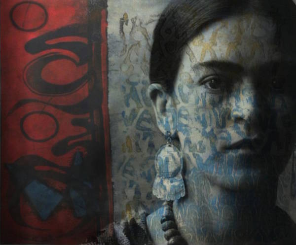 Wall Art - Digital Art - Us And Them - Frida Kahlo by Paul Lovering