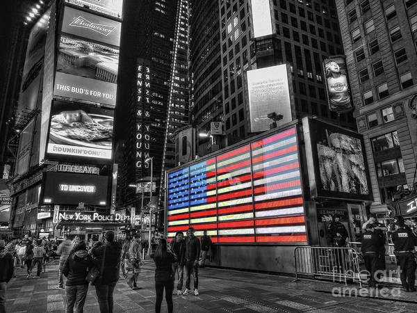 Photograph - U.s. Armed Forces Times Square Recruiting Station by Jeff Breiman