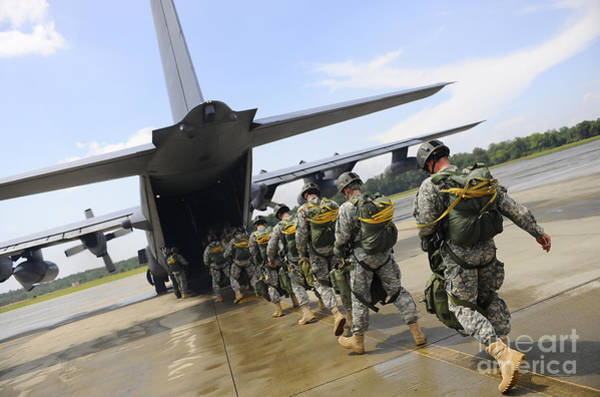 Airbase Photograph - U.s. Army Rangers Board A U.s. Air by Stocktrek Images