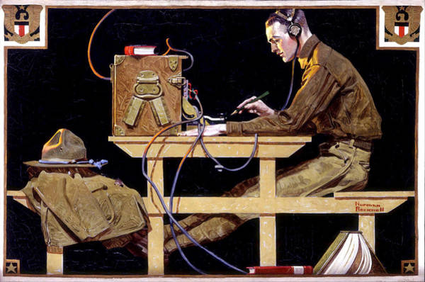 Painting - Us Army Teaches A Trade by Norman Rockwell