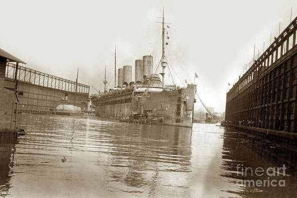 Photograph -  U.s. Army Transport Uss Mount Vernon 1917-1919 by California Views Archives Mr Pat Hathaway Archives