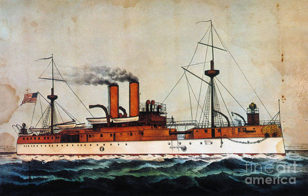 Ives Photograph - U.s. Battleship Maine 1898 by Granger