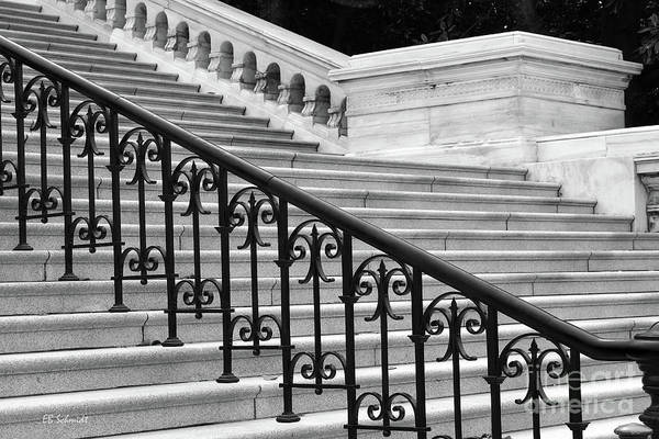Photograph - United States Capital Steps by E B Schmidt