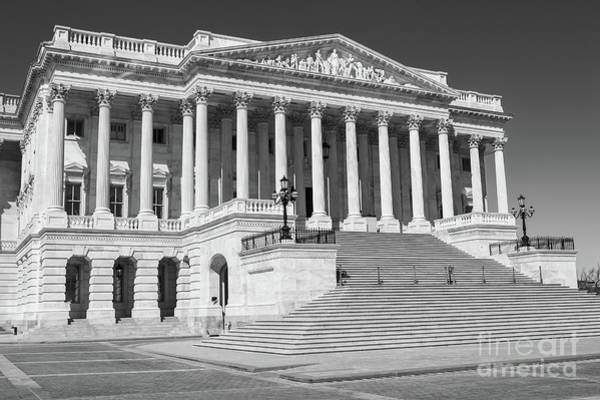 Photograph - Us Capitol North Wing II by Clarence Holmes