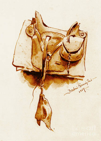 Cavalry Photograph - Us Cavalry Saddle 1869 by Padre Art