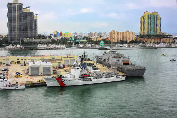 Photograph - U. S. Coast Guard At Miami by John M Bailey