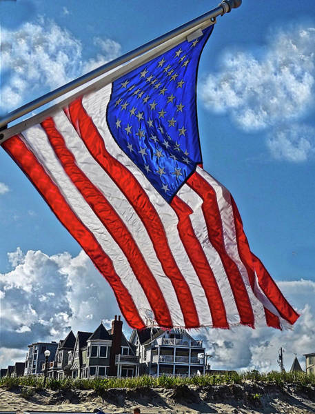 Photograph - Us Flag,ocean Grove,nj Flag by Joan Reese