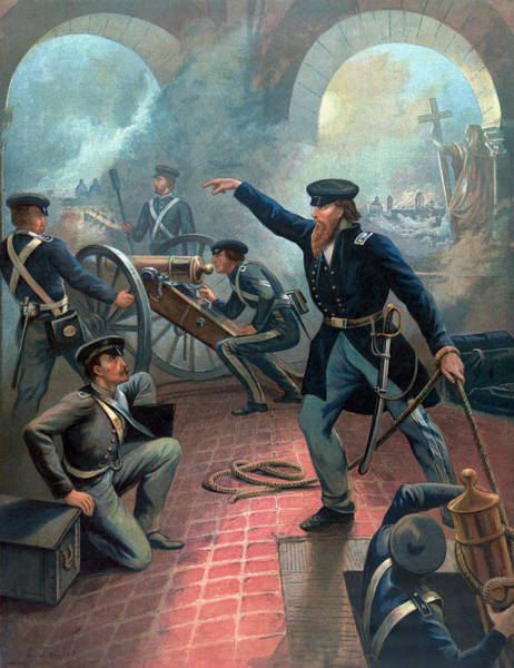 U. S. Presidents Wall Art - Painting - U.s. Grant At The Capture Of The City Of Mexico by War Is Hell Store