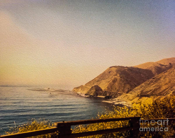 Cabrillo Photograph - California Highway One by Tom Gari Gallery-Three-Photography