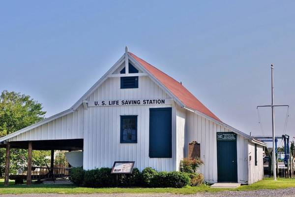Photograph - Us Lifesaving Station Front View by Kim Bemis