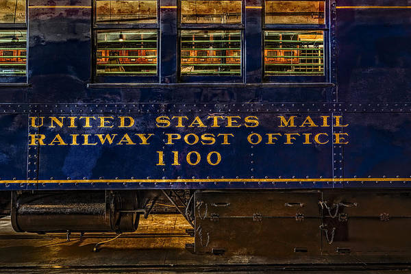 United States Postal Service Photograph - Us Mail Railway Post Office Train by Susan Candelario