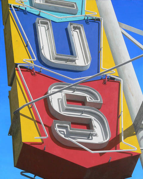 Neon Sign Painting - US by Michael Ward