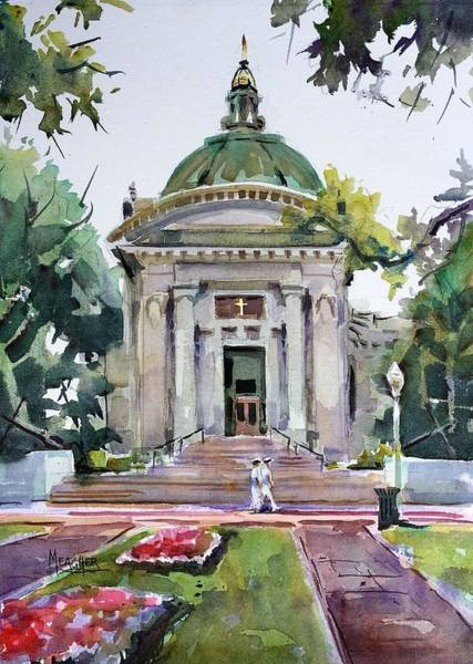 Chapels Painting - Us Naval Academy Chapel by Spencer Meagher
