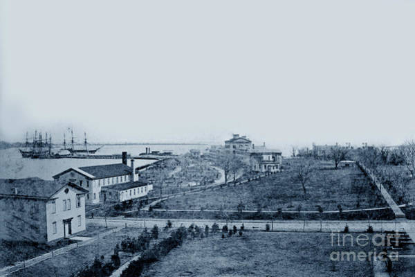 Photograph - U S Naval Academy Waterfront In The Late 1860s  by California Views Archives Mr Pat Hathaway Archives