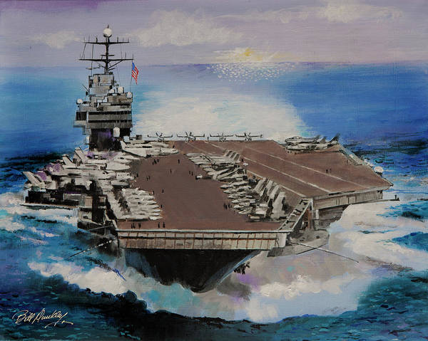 Flight Deck Painting - Us Navy-always Ready by Bill Dunkley