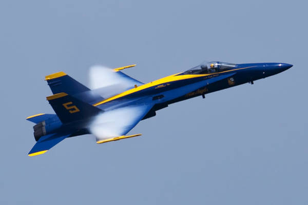 Blue Angels Photograph - Us Navy Blue Angels High Speed Pass by Dustin K Ryan