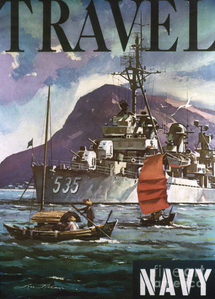 Photograph - U.s. Navy Travel Poster by Granger