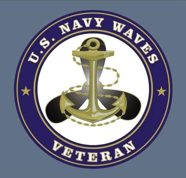 Veterans Photograph - Us Navy Waves Veteran Logo by Suzan Kinsey