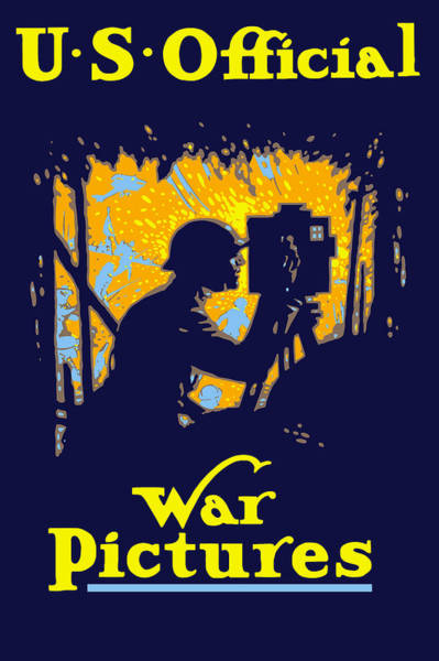 Film Painting - U.s. Official War Pictures by War Is Hell Store
