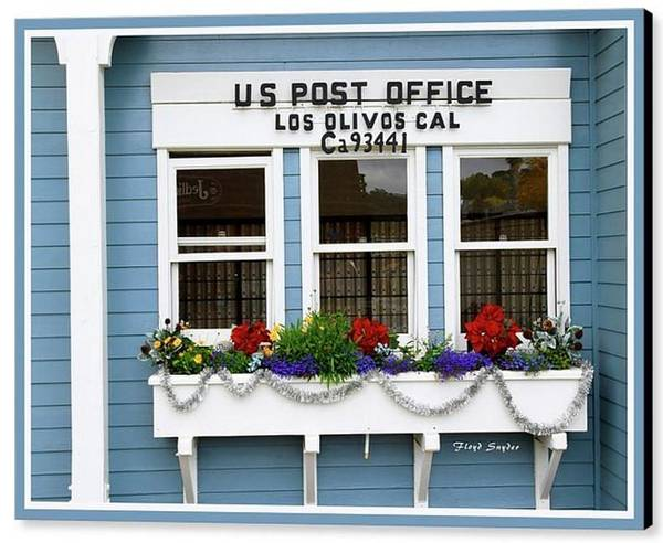 Photograph - Us Post Office Los Olivos California  by Floyd Snyder