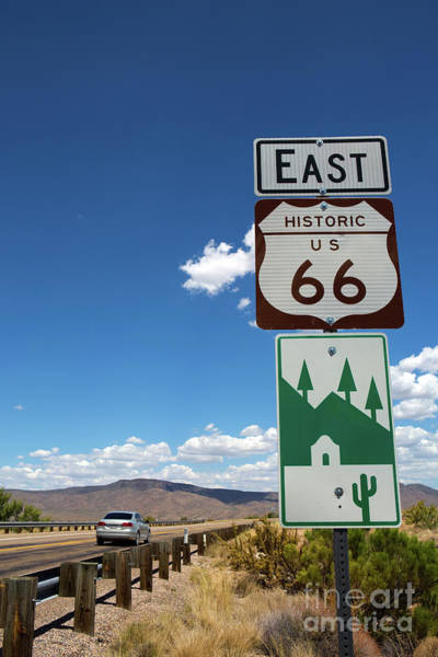 Photograph - Us Route 66 Sign Arizona by Steven Frame