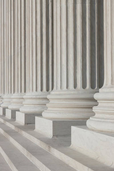 Photograph - Us Supreme Court Building I by Clarence Holmes