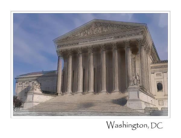 Photograph - Us Supreme Court Building In Washington Dc by Brandon Bourdages