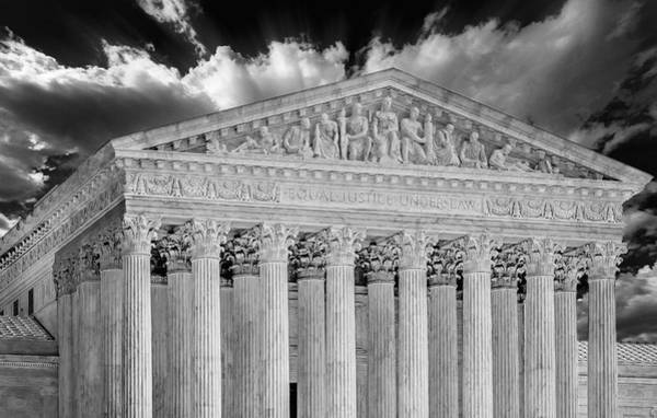 Photograph - Us Supreme Court II Bw by Susan Candelario